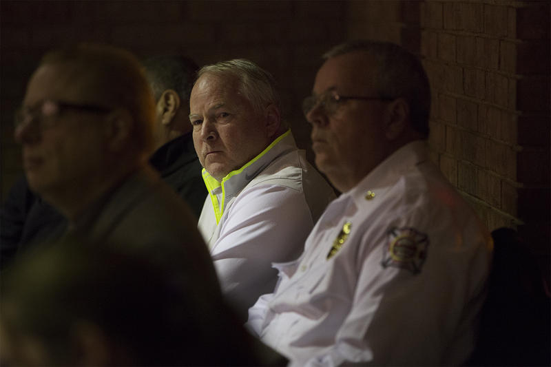Former Ferguson Police Chief Thomas Jackson attends Tuesday's city council meeting.