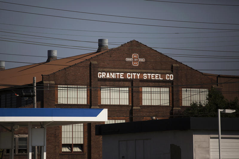 Granite City steel plant on July 20, 2017.