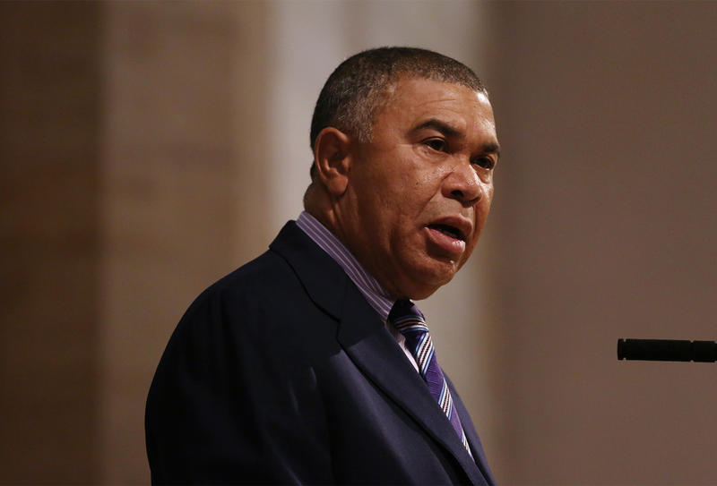 U.S. Rep. William Lacy Clay, D-University City, speaks at a congressional forum hosted by the League of Women Voters at Christ Church Cathedral in July of 2016.