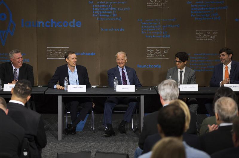 Biden praises LaunchCode for linking people to technology jobs ...
