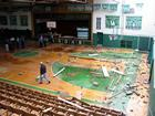 The gym at De Soto High School lost part of its roof during last week's storm.
