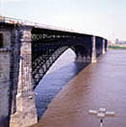 The Eads Bridge is once again open for business.