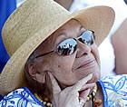 Katherine Dunham, at a ceremony in 2005 to mark the rehab of her house in East St. Louis (UPI photo/Bill Greenblatt)
