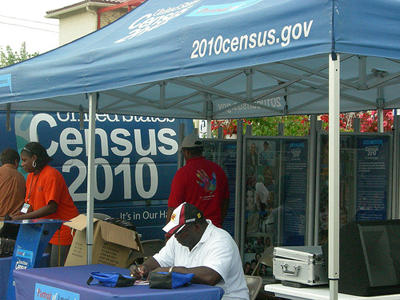 A 2010 Census outreach event in July of 2010. New Census data will be released tomorrow which could result in fewer legislative seats for Missouri and Illinois. (Flickr Creative Commons User jennaddenda)