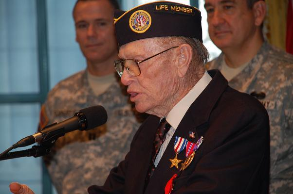 Perry Coy, 86, recipient of France's Legion of Honor medal.