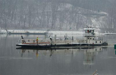 The Brussels Ferry isn't operating right now due to ice on the Illinois River.