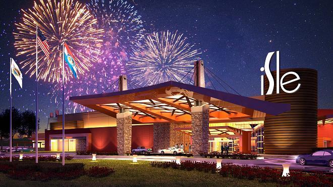 Artist rendering of Isle of Capri Casino in Cape Girardeau, set to open in Late 2012.