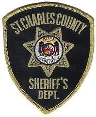 A badge from the St. Charles County Sheriff's department. Four men have been arrested in connection with a fatal shooting in the county on Christmas Even