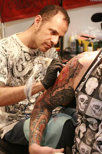 A new Missouri proposal triples the fees for tattoo artists in the state. Officials says the fee increase is needed to finance its oversight of the growing industry.  (Flickr Creative Commons, madaboutasia)