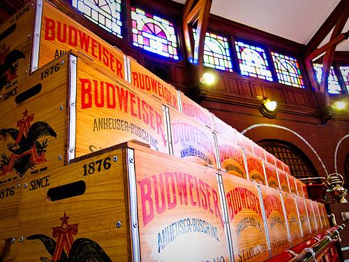 Inside the Anheuser-Busch brewery in St. Louis, Mo.