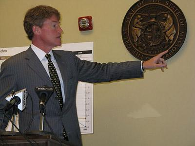 "Mo. Attorney General Chris Koster released a list of ""Missouri's 15 Worst Charities"" today. (St. Louis Public Radio)"