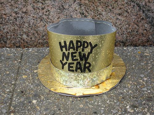 A discarded Happy New Year hat in New York in 2008. (Via Flickr/adamsofen)