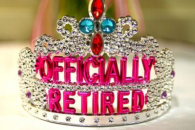 "This celebratory tiara was given to Dori Gates at her retirement party after working for 30+ years at Grand Valley State University in Michigan. If Gates lived in Illinois, she'd be living in a state deemed ""worst"" for retirees. (Via Flickr/ stevendepolo)"