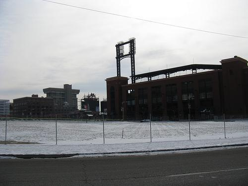 The site of Ballpark Village as it looked on Jan. 14, 2011. After a two-year delay, the developer is moving forward again with an effort to seek financing and tax breaks.