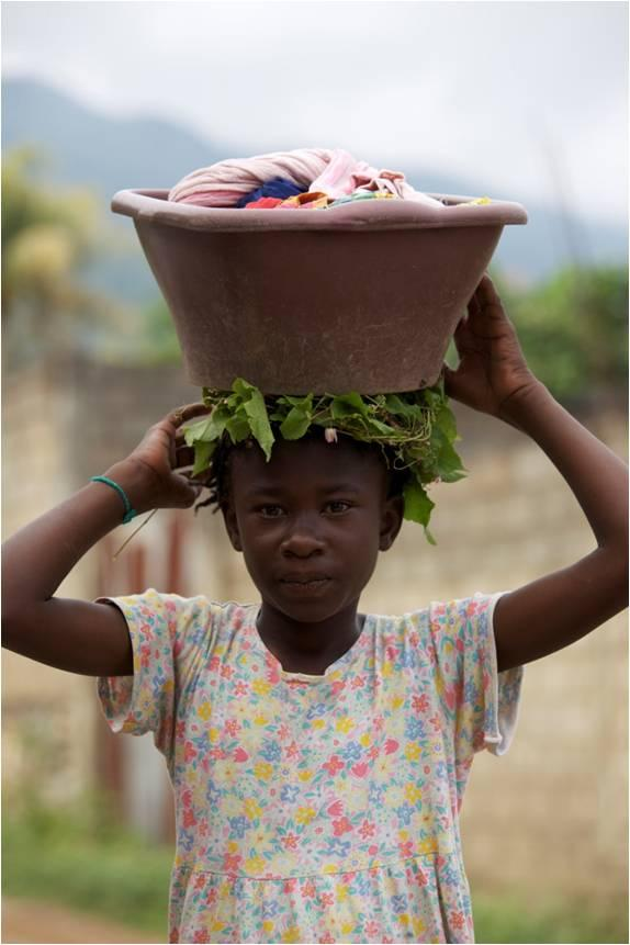 Lora Iannotti studies public health and nutrition in Haiti, including that of children. (C. VanArtsdalen)