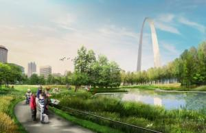 Planned upgrades for the ponds at the foot of the Arch. The authority that will oversee the reconstruction was approved on Jan. 28.