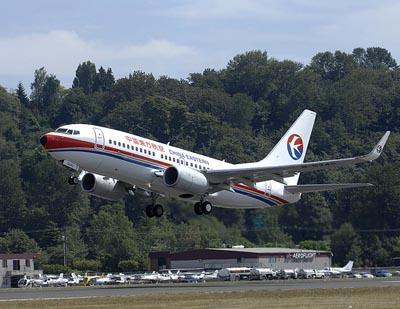 A China Eastern Airlines airplane taking off in Seattle in 2007. The Midwest-China Hub Commission announced today that China Eastern has agreed to open up talks with Lambert-St. Louis International Airport. (via Flickr/boeingdreamscape)