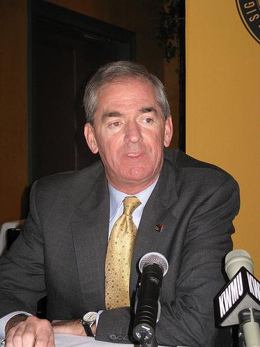 University of Missouri system president Gary Forsee in 2008. Forsee announced his resignation today (St. Louis Public Radio)