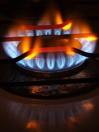 A gas stove burner, a familiar sight to some natural gas customers.