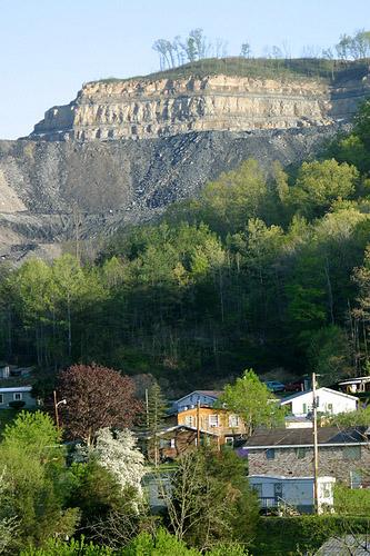 This mine in Pike County, Ky. uses mountaintop removal, the same process used in an Arch Coal mine in W. Va. that's come under fire from the EPA. (via Flickr/iLoveMountains.org)