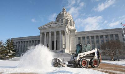 Snow blanketed many areas of Missouri last night and into this morning, including in Jefferson City, Mo. pictured here in 2009, the site of Gov. Nixon's State of the State address last night. (UPI/Bill Greenblatt)