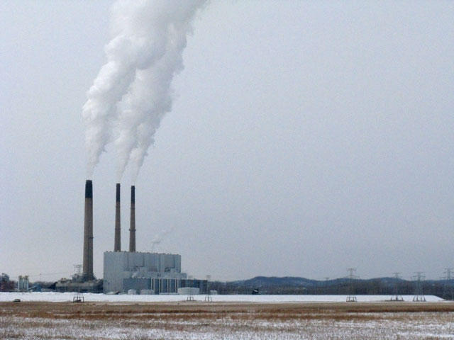 Ameren's 2,400-megawatt plant near Labadie, Missouri, is the state's largest coal-fired power plant. (Véronique LaCapra, St. Louis Public Radio)
