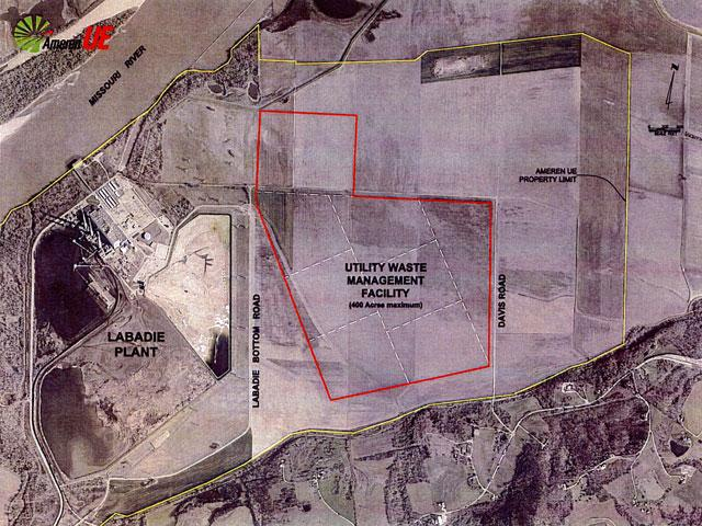 A diagram of Ameren's proposed landfill site. (Ameren Missouri)