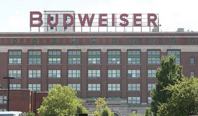 The St. Louis headquarters of Anheuser-Busch (now owned by InBev). The company says it's looking to expand its market base in Europe. (UPI/Bill Greenblatt)