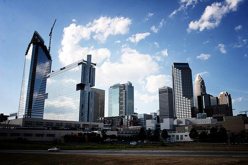 The Charlotte, N.C. skyline. Charlotte was chosen over several cities, including St. Louis, to host the 2012 Democratic National Convention. (via Flickr/jacreative)