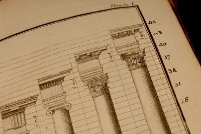Freart de Chambray's Parallele de l'architecture antique avec la moderne contains notes by Thomas Jefferson.(Joe Angeles, Washington University in St. Louis)
