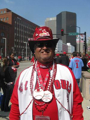 Fans celebrated Opening Day for the St. Louis Cardinals at Busch Stadium in downtown St. Louis.