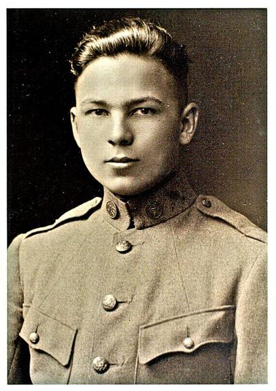 Frank Woodruff Buckles, age 16, U.S. Regular Army, First Ft. Riley Casual Detachment of 102 men. Flags will be lowered in select locations of Mo. until March 8, 2011 to honor Buckles, who died Sunday. (via Wikimedia Commons/ U.S. Library of Congress)