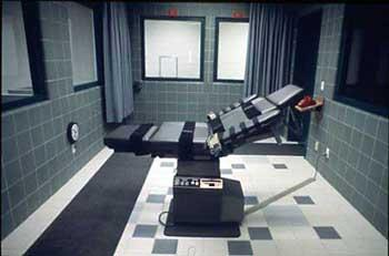 This gurney is used to perform executions at a facility in Terre Haute, Ind. by lethal injection. 21 Missouri death-row inmates have sued the director of the state's Corrections Department over the decision to use a new drug in executions.