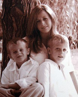Sheri Coleman with sons Gavin and Garett. A wrongful death suit filed by Sheri's family has been dropped.
