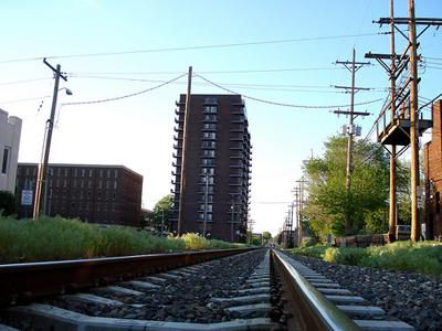 Pictured here in 2009, proposed lines in Springfield, Ill. for the Chicago/St. Louis high-speed rail route.