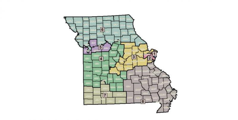 The redistricting map proposed by the GOP majority on the House Redistricting Committee.