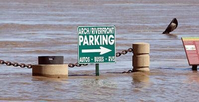 Leoine K. Sullivan Street in St. Louis is forced to close several days a year due to flooding. Flood conditions are developing from Canton, Mo. all the way south of St. Louis.