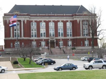 The Missouri Supreme Court building in Jefferson City, Mo.