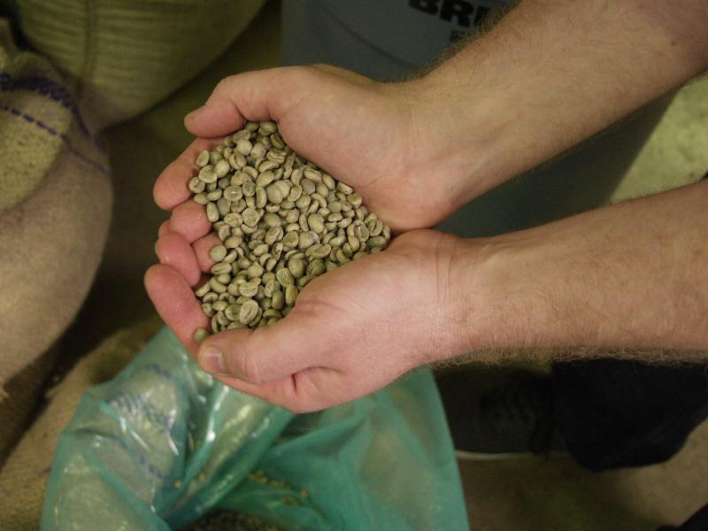 Coffee beans from Burundi, ready for the roaster in St. Louis. (Libby Franklin)