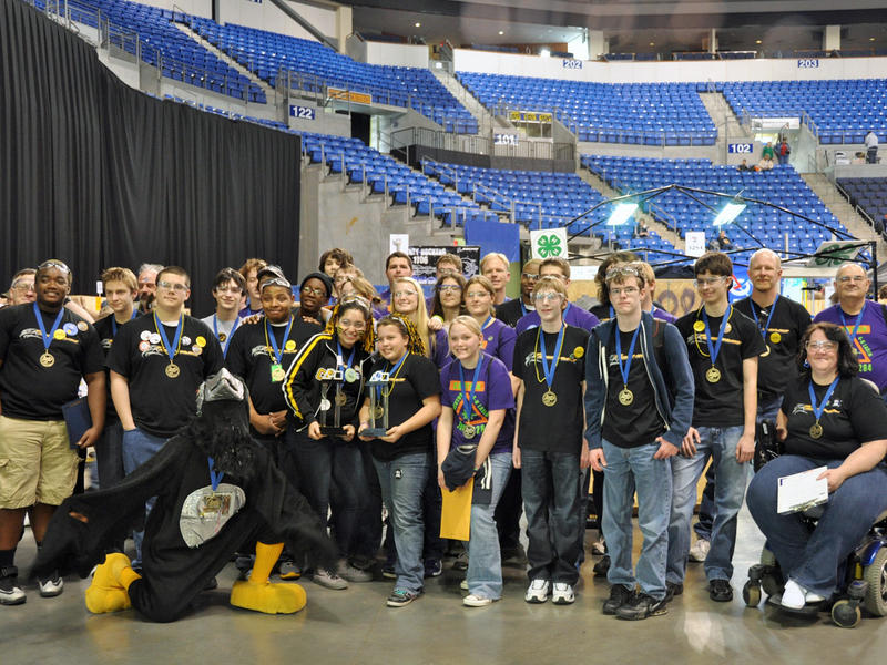 The Robohawks (Florissant, Mo.), Robo-Lions (University City, Mo.) and Camdenton 4-H LASER (Camdenton, Mo.) won this year's St. Louis Regional FIRST Robotics competition.