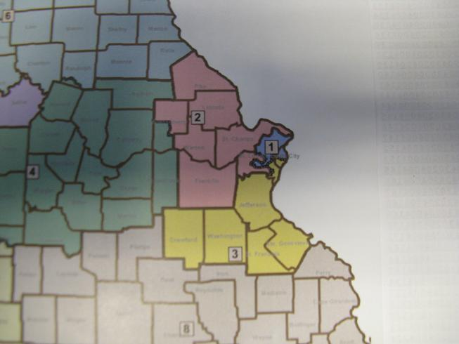 An alternate map proposed by State Sen. Robin Wright-Jones (D, St. Louis) would preserve most of the congressional district currently held by fellow Democrat Russ Carnahan (NOTE:  A digital copy of the map was not available at press time).