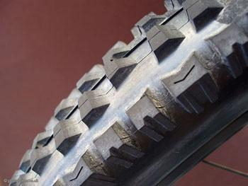 A bicycle tire.