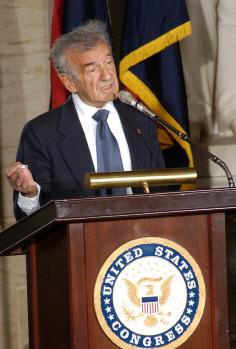 Elie Wiesel addressing the U.S. Congress. Today Wiesel joined us on St. Louis on the Air.