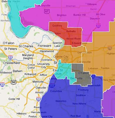 Ill Republicans Propose Redistricting Map St Louis Public Radio - Ill map