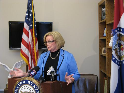 """Senator Clair McCaskill is calling House Majority Leader Eric Cantor's comments about relief funds for tornado victims in Joplin, Mo., """"wildly inappropriate."""""""
