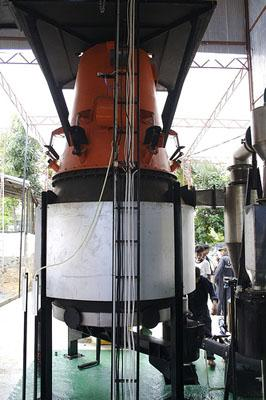 A biomass gasifier in Sri Lanka. Gasifiers are used to convert biomass into usable energy.