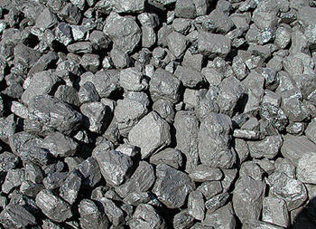 The raw product behind coal power, coal itself.