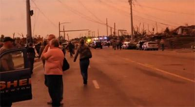 This is a screen capture of the scene in Joplin, Mo. following the tornado that struck the town on May 22.