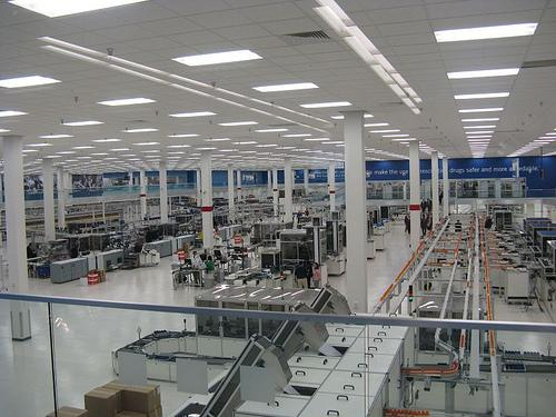 A processing floor at Express Scripts in north St. Louis County.