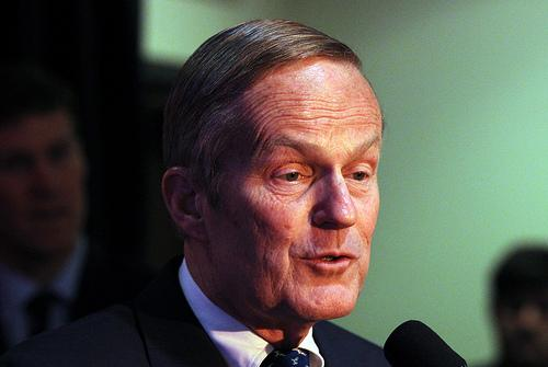 A Democratic state Representative has asked for an investigation into reports that Senate candidate Todd Akin, pictured here, voted 10 times from the wrong address.